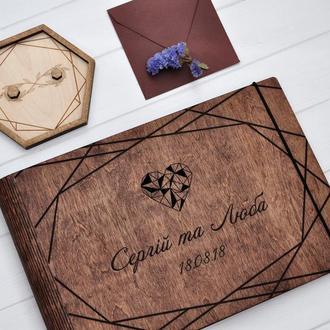 """Свадебный фотоальбом / Свадебная гостевая книга """"Geometric Love"""""""