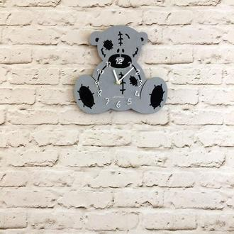 Детские деревянные настенные часы Мишка Тедди