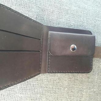 Темно-коричневый кожаный кошелек K29-450