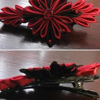 Шпилька (червоно-чорна)