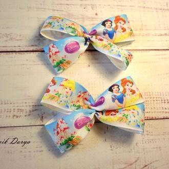 """Бантики """"Принцессы Disney"""" на резинках"""