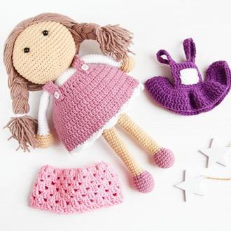 Подарок на день рождения для девочки Кукла с одеждой