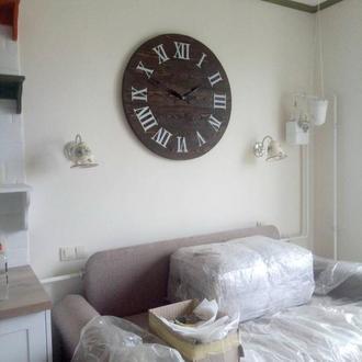 Деревянные настенные часы Римские