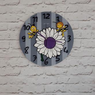 Детские деревянные настенные часы Пчелка Майя