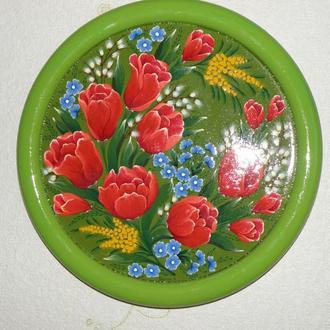 "Декоративная тарелка ""Тюльпаны"""