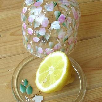 Лимонница стеклянная ручная роспись