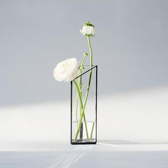Ваза для цветов, геометрический декор для дома из стекла, памятный подарок.