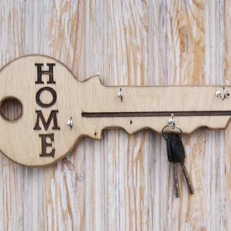 Настенная деревянная ключница