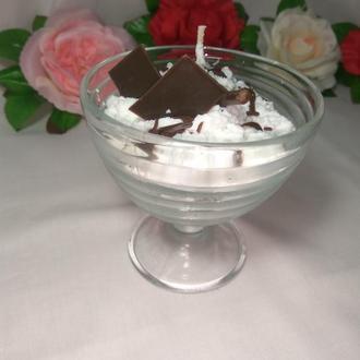 """Подарки Свеча """"Шоколадное мороженое"""""""
