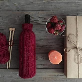 Вязаный декор, аксессуары вина, свитер для бутылки, чехол на бутылку, винные аксессуары, декор вина