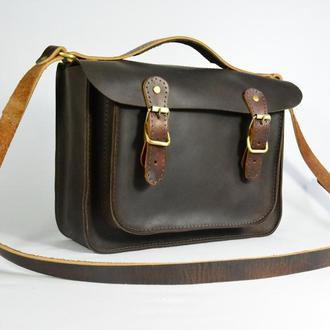 Кожаная сумка через плече Кожаная женская сумочка
