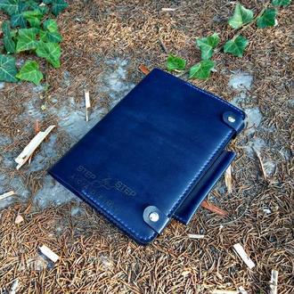 Кожаный органайзер Blue
