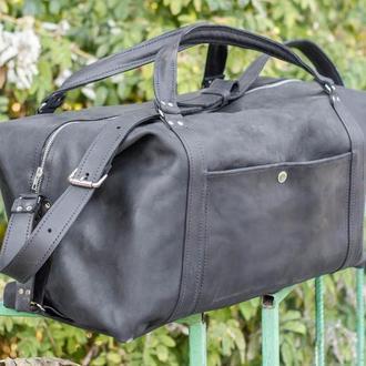 Кожаная дорожная спортивная сумка
