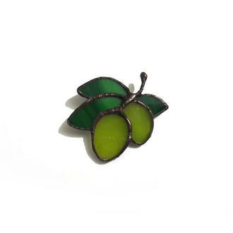Брошь «Оливки»