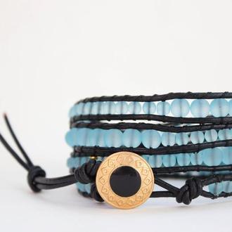 Спиральный браслет чан лу chan luu из стеклянных матовых бусин