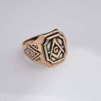 Кольцо перстень Масонская печатка