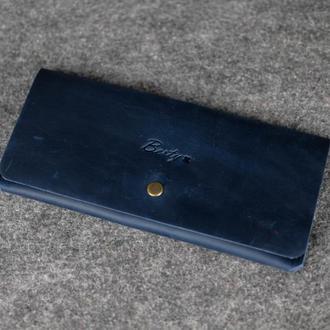 Женский клатч «Баттерфляй» |10302| Синий