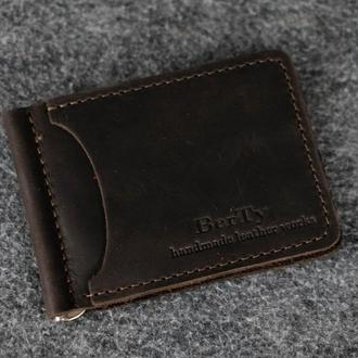 Зажим для денег |10605| Винтаж | Шоколад
