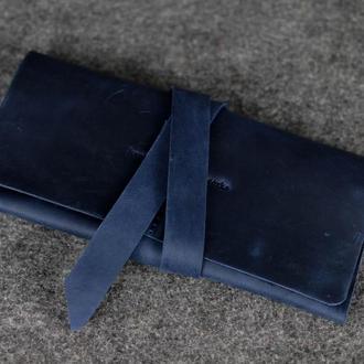 Женский клатч с закруткой |10329| Синий
