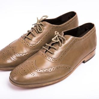 Туфли мужские с мягкой пяткой natural letaher