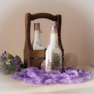 Короб для бутылок + бутылки