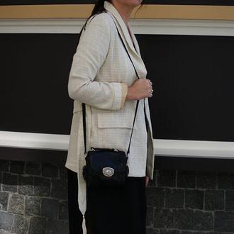 Льняной женский пиджак с поясом, женский жакет