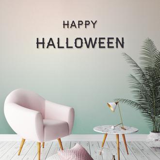 """Дерев'яний напис на стіну """"Happy Halloween"""""""