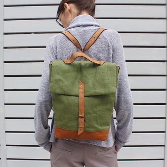 Рюкзак трансформер (зелений)
