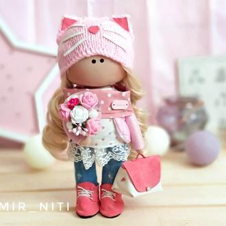 Интерьерная кукла кошечка