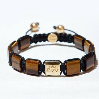 Мужской браслет Lotus Design с тигровым глазом