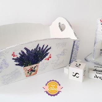 Комплект Шебби-шик Прованс (Конфетница + Вечный календарь)