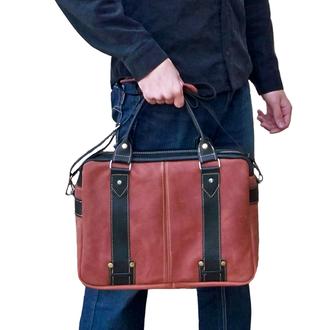 Кожаная сумка BigCase X2 (Cognac/Black)