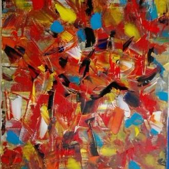 """Картина в стиле абстракция""""Осень""""(40*60)."""