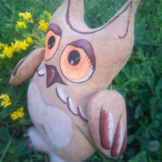 Интерьерная игрушка сова с ароматом кофе