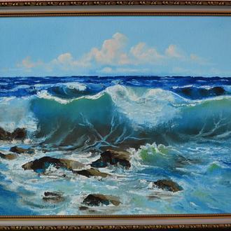 """картина маслом """"Море"""""""