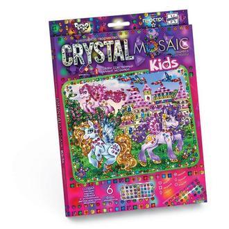 Мозаика стразами (алмазами) Пони с крыльями, детская серия (CRMk-01-04)