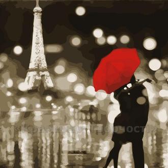 Картина по номерам Романтический Париж, 40x50 (AS0047)