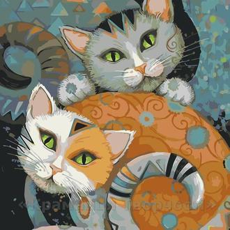 Картина по номерам Коты, 40x50 (AS0064)