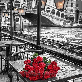 Картина по номерам 40х50 Розы под дождём (GX9754)