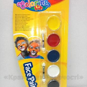 Краски для лица 5 цветов Colorino (15950PTR)