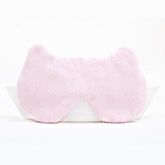 Розовая маска для сна мишка