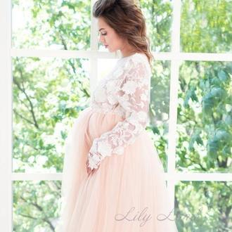 Нарядное платье для беременных для фотосесии