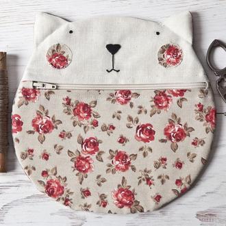 Косметичка кошка, сумка кот, подарок девушке