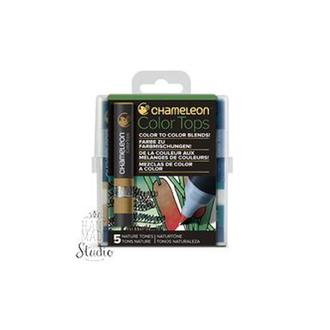 Набор 5 блендеров Chameleon 5 Color Tops Nature Tones Set СТ4514