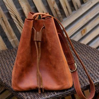 Сумка женская на длинном ремне, стильная женская сумка, сумка молодежная женская, ручная работа