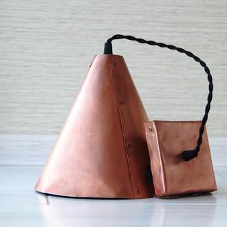 Подвесной светильник из меди, форма конус