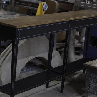 Дизайнерский стол консоль из массива дерева по дизайн проекту