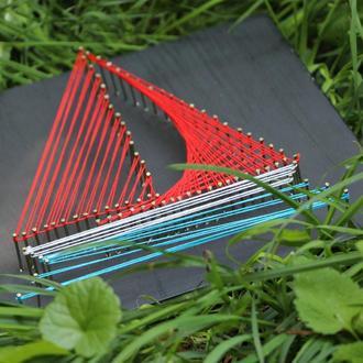Набір для творчості в техніці String Art Червоні вітрила