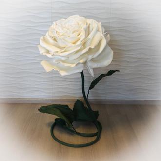 Большой ростовой цветок роза из изолона для украшения детской комнаты, офиса