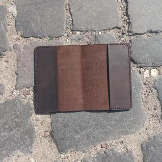 Обложка на паспорт кожаная brown Just Feel